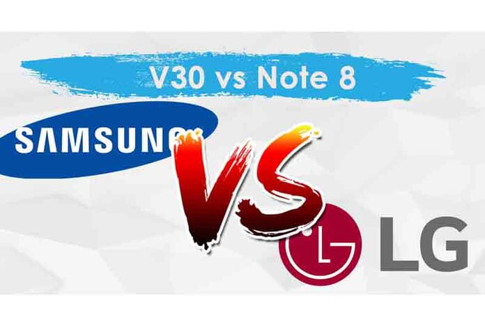 samsung note 8 vs lgv30