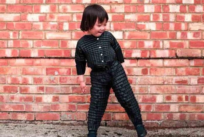 children growing flexible clothing